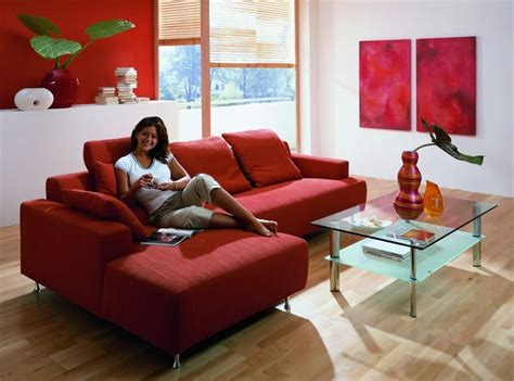 modern living rooms design with red couch and red sofa red