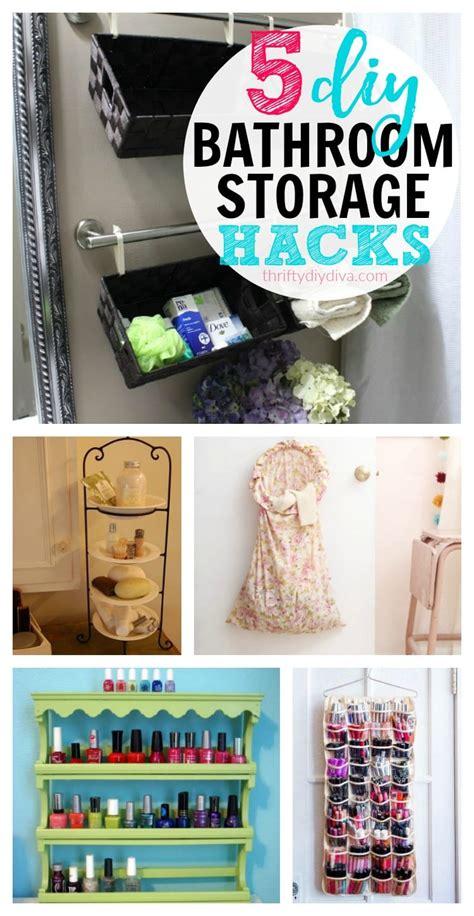 Diy Bathroom Storage Ideas by 5 Cheap Diy Bathroom Storage Ideas