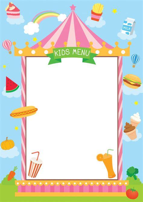 Cornice Per Menu Menu Per Bambini Con Cornice Di Carnevale Scaricare
