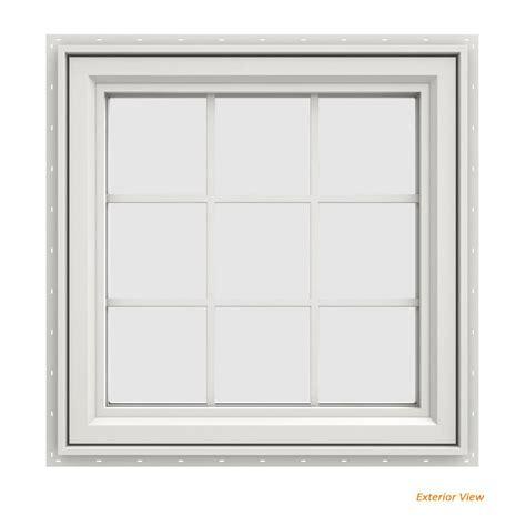 jeld wen        series white vinyl  handed casement window