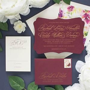 cherished gold and burgundy wedding invitations banter With burgundy black and gold wedding invitations