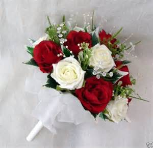 order wedding flowers artificial wedding flowers special order for helen brides bouquet bridesmaids posies buttonholes