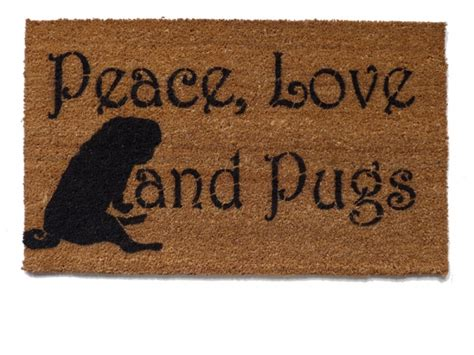 Peace Doormat by Peace Pugs Doormat Doormats