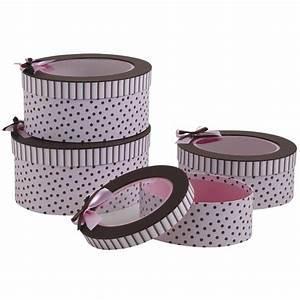Boite Cadeau Ronde : boites en carton rondes roses et marron vbt286s aubry ~ Teatrodelosmanantiales.com Idées de Décoration
