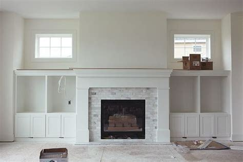 fireplace subway tile fireplace with marble subway tiles