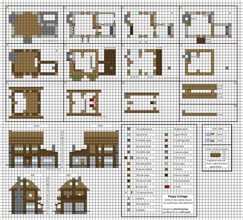 blueprint for houses poppy cottage medium minecraft house blueprints by