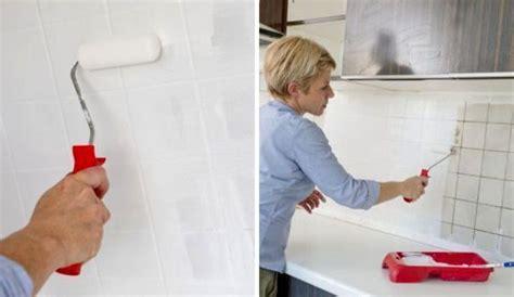 repeindre un carrelage de cuisine repeindre le carrelage d une credence de cuisine 4578430 jpg