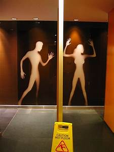 funny men and women restroom signs With cool bathroom signs