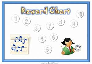 Printable Family Routine Chart Sticker Charts With A Music Theme