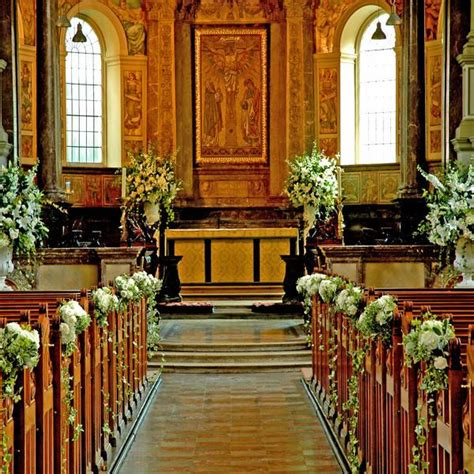 pew ends  church ceremony church wedding ceremony