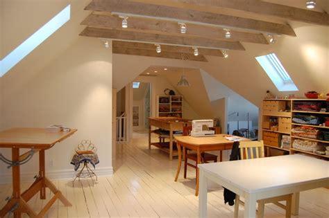 attic renovations traditional home office toronto