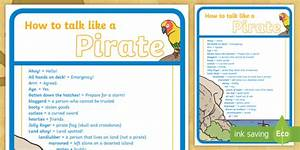 How To Talk Like A Pirate Guide