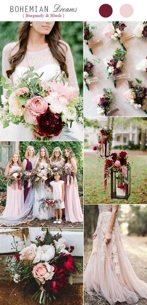 wedding colores top 5 rustic bohemian chic wedding color palettes we
