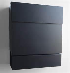 designer briefkasten briefkasten postkasten mit zeitungsfach letterman 5 schwarz radius 561f briefkästen