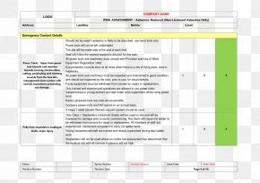 risk assessment template form document png xpx