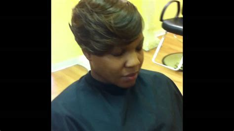Short Cut Quick Weave Haircut (stylist Marvin Hayes
