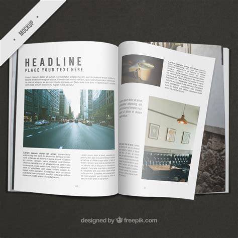 mag de gratis business magazine mockup psd file free