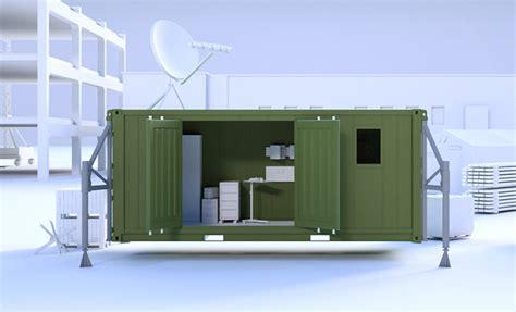 bureau aménagé aménagement container pour l 39 armée cubner