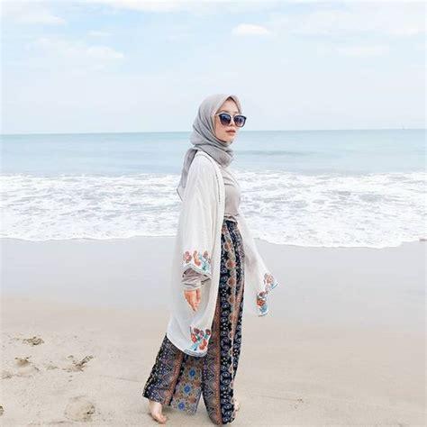 contoh model baju hijab   pantai fashion modern  terbaru pusat mukenacom jual