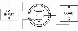 Digital Led Voltmeter - Flush Mount - Internal Shunt