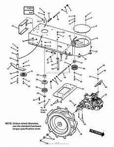 Snapper Fb15250kw  7085923  15 Hp Walk Behind Brush Mower Series 0 Parts Diagram For Engine Deck