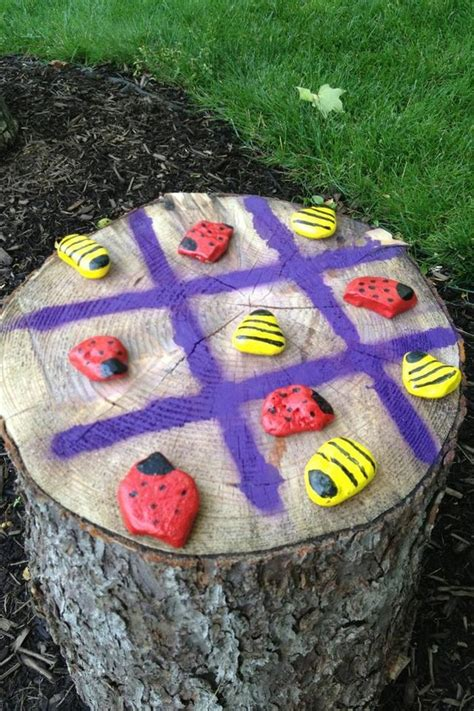Make Your Own Outdoor Tictactoe Game  Craft Projects