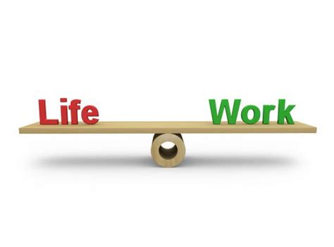 life  work text  balance scale stock photo