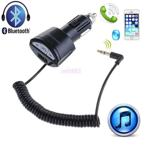 aux adapter auto hifi car bluetooth usb charger a2dp3 5mm aux stereo audio receiver adapter