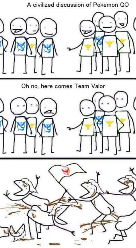 Pokemon Go Team Memes - team valor in a shellnut pok 233 mon go know your meme