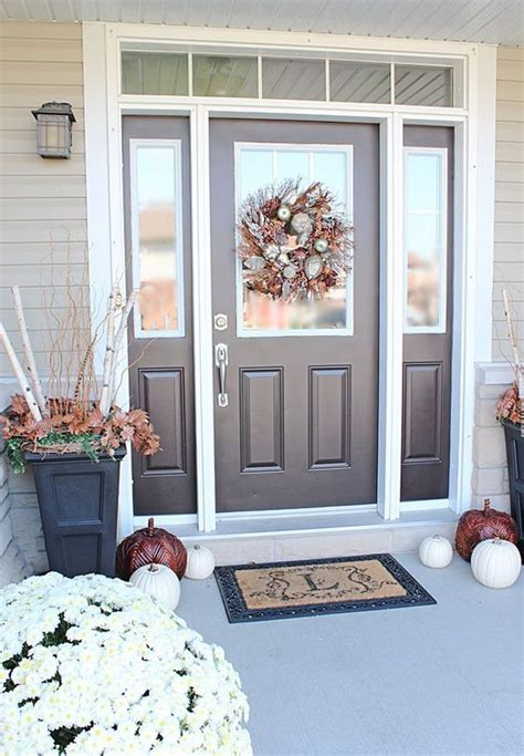 cool front door designs  sidelights front porch