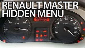 How To Enter Hidden Menu In Renault Master  Service Test