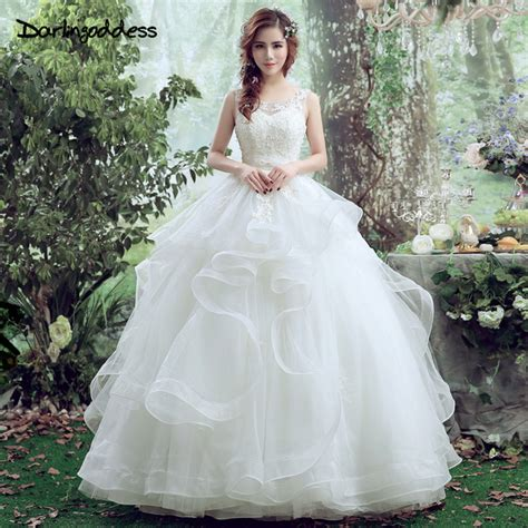 darlingoddess lace wedding dress elegant corset ball gown