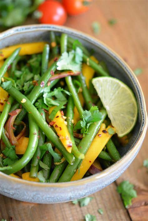 cuisiner les haricots verts frais salade exotique d haricots verts frais à la mangue