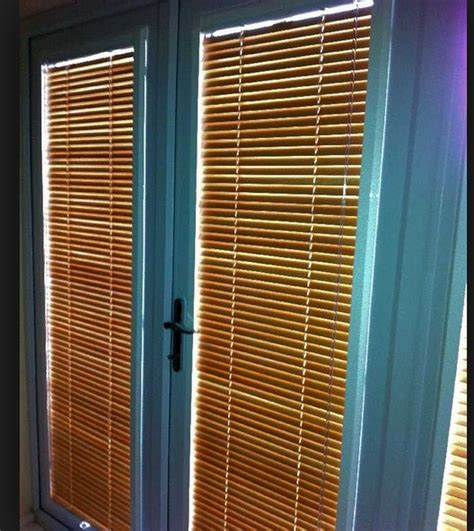 patio door wooden venetian blinds interior home decor