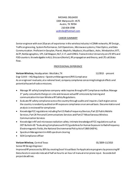 profile summary for resume design engineer resume rf engineer baseline 02162015