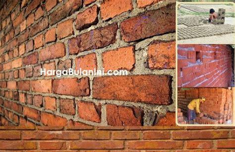harga batu bata merah terbaru bahan dinding rumah