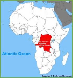 Democratic Republic Congo Africa Map