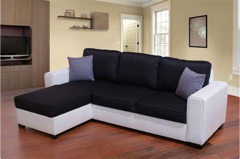 photos canapé noir et blanc simili cuir
