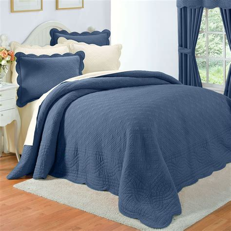 single or double fitted bedspread with earthy blue fitted bedspread cotton