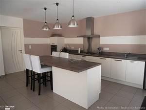 decoration d39un salon sejour cuisine entree tendances et With deco cuisine pour canapé