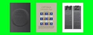 The poster represents the Optima font on Behance
