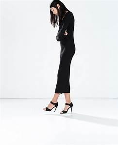 robe longue zara noire hiver pres du corps la robe longue With robe noire pres du corps