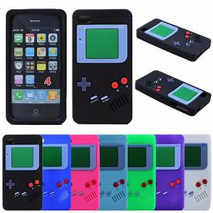 3D Gameboy Soft Silicone Rubber Case Cover For Apple ...