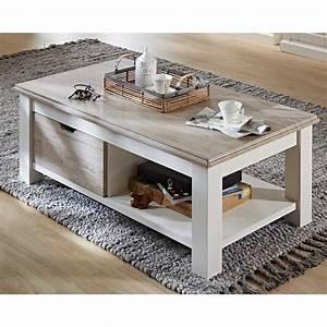 Wohnzimmer In Weiß : wohnzimmer couchtisch rozasa in wei taupe mit ablage ~ Orissabook.com Haus und Dekorationen