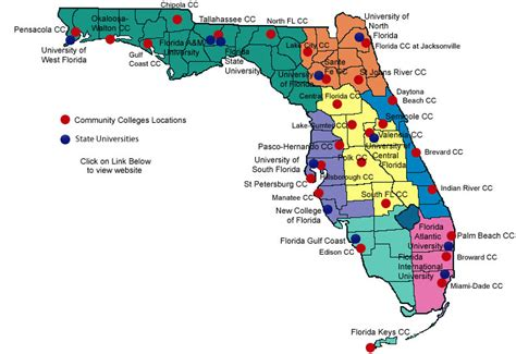 Florida Universities Map.State University System Of Florida Map Poisk Po Kartinkam Red