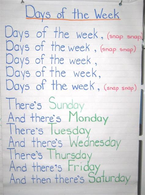 9 best days of week images on elementary 496 | 35577542f0cbba17631af912b6ccbcb4 preschool at home preschool activities