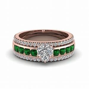 shop our 18k rose gold trio wedding ring sets fascinating With 18k yellow gold wedding ring sets
