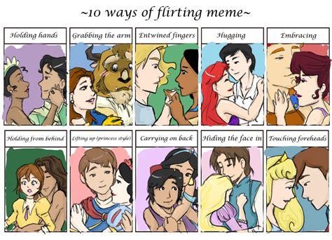 Disney Girl Meme - flirting meme disney style by bryngoesrawr on deviantart
