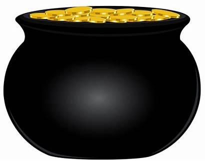Pot Clipart Clip Coins Printable Patrick Transparent