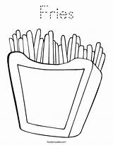 Coloring Chips Fries French Print Twisty Outline Noodle Cursive Twistynoodle Built California Usa Favorites Login sketch template